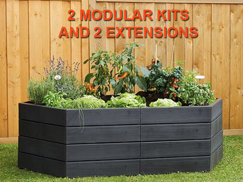 Modular Raised Bed System - 2 Modular Kits and 2 Extensions