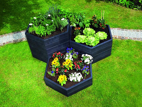 Image of Three Modular Raised Bed Units Make Attractive Design