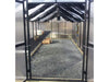 Image of Installed Monticelllo Internal Shade Cloth on a bare greenhouse