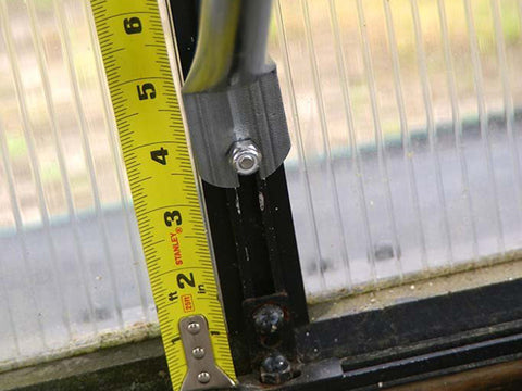 Close up of the Monticello Work Station Kit with measuring tape