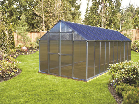 Riverstone Monticello Greenhouse 8x20 - Premium Package with silver frame