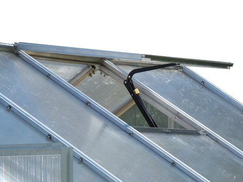 Monticello Growers Edition Greenhouse - roof vent with automatic opener