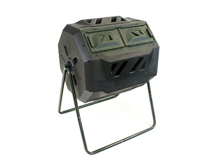 Image of Mr. Spin Dual Compartment Compost Tumbler with white background