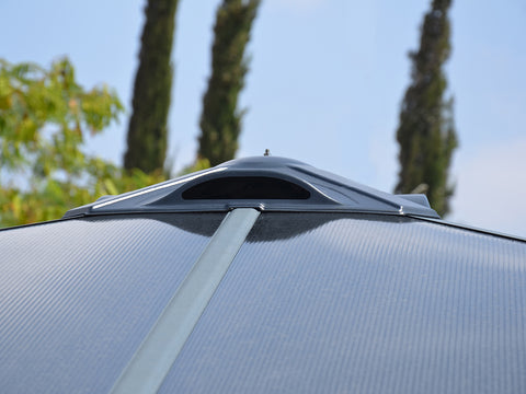 Palermo Hard Top Gazebo - close up of durable aluminum frame