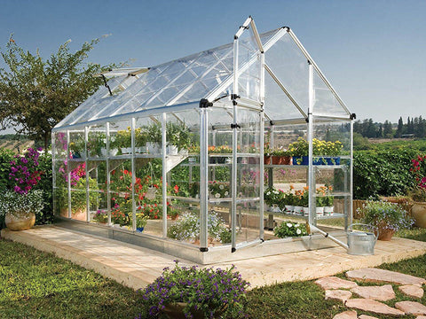 Image of Palram 6ft x 16ft Snap & Grow Hobby Greenhouse - HG6016