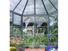 Image of Palram 7ft x 8ft Oasis Hex Greenhouse - HG6000 - top framework view from the inside