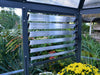 Image of Palram 7ft x 8ft Oasis Hex Greenhouse - HG6000 - side louvre window - view from the inside