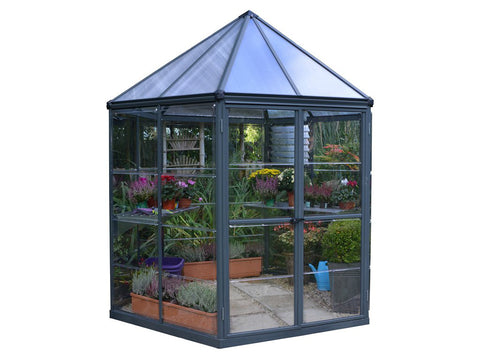 Palram 7ft x 8ft Oasis Hex Greenhouse - HG6000 - white background