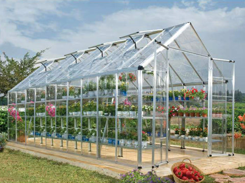 Image of Palram 8ft x 20ft Snap & Grow Hobby Greenhouse - HG8020