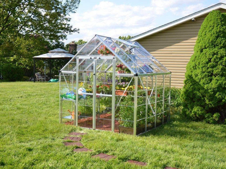 Palram 8ft x 8ft Snap & Grow Hobby Greenhouse - HG8008