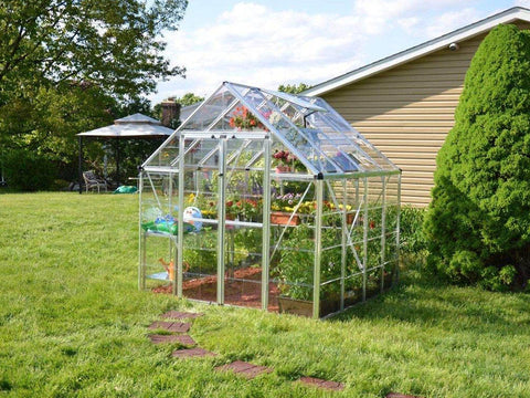 Image of Palram 8ft x 8ft Snap & Grow Hobby Greenhouse - HG8008