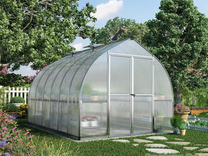 Palram Bella Silver 8ft x 12ft Hobby Greenhouse HG5412