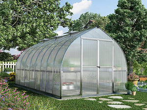 Palram Bella Silver 8ft x 16ft Hobby Greenhouse HG5416