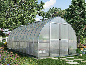 Palram Bella Silver 8ft x 20ft Hobby Greenhouse HG5420
