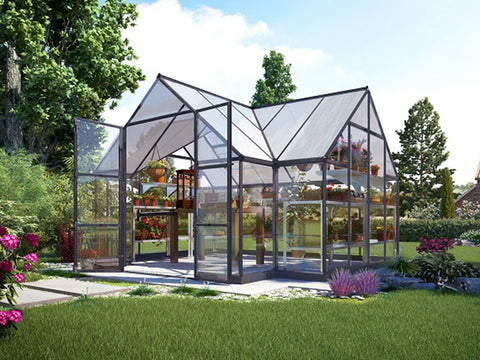 Image of Palram Chalet 12ft x 10ft Hobby Greenhouse HG5400