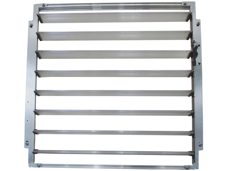 Open Palram Side Louver Window - full view - white background