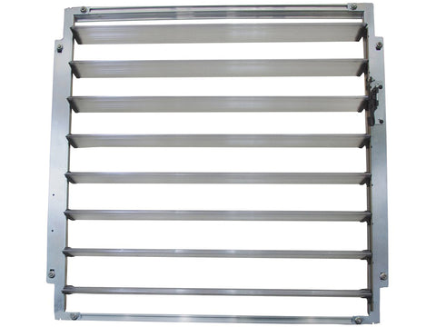 Image of Open Palram Side Louver Window - full view - white background