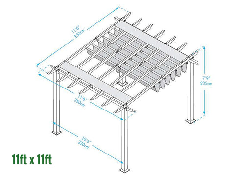 Image of Paragon Florence Pergola 11ft x 11ft