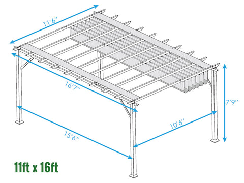 Image of Paragon Florence Pergola 11ft x 16ft