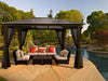 Image of Madrid 10x13 Hard Top Gazebo with Open Mosquito Netting