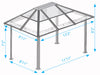Image of Paragon Madrid Hard Top Gazebo Dimensions