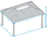 Image of Paragon Sienna Hard Top Gazebo 12ft x 16ft with Sliding Screen Dimensions