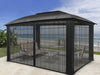 Image of Paragon Sienna Hard Top Gazebo 12ft x 16ft with Closed Sliding Screen