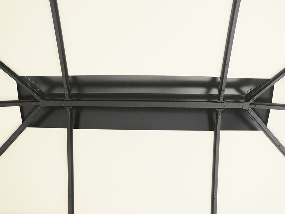 Rectangular center piece of the canopy frame work