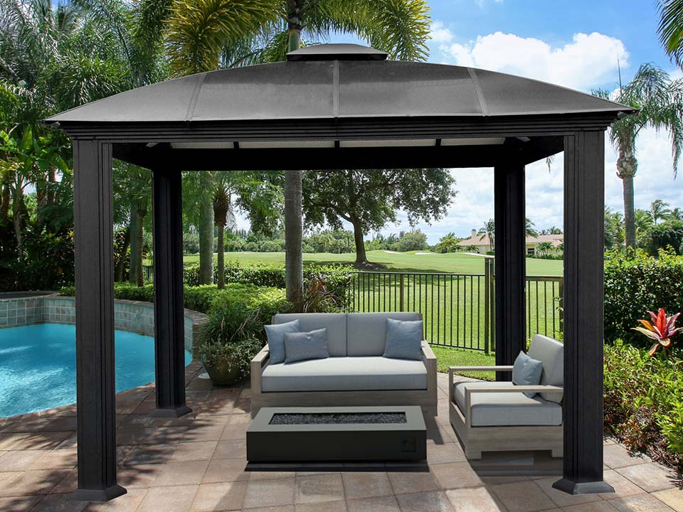 Paragon Sienna Hard Top Gazebo 12 ft x 12ft