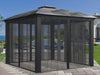 Image of Paragon Sienna Hard Top Gazebo 12 ft x 12ft with Closed Sliding Screen