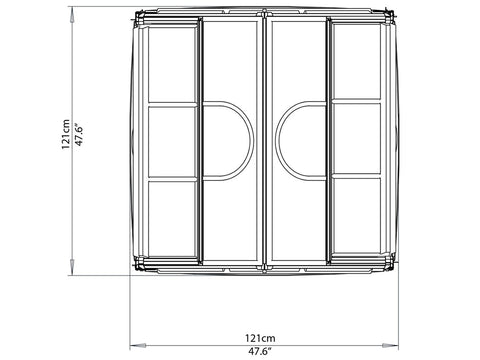 Palram 4ft x 4ft Plant Inn™ framework- HG3320- white background