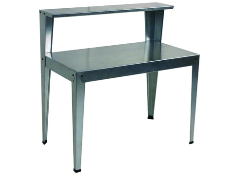 Galvanized Potting Bench in  full image in  white background