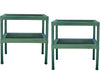Image of Rion Prestige 2 Twin Wall 8ft x 12ft Greenhouse HG7312 - two green two tier benches