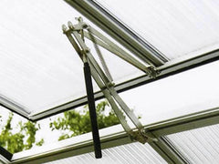 Assembled and installed Riga Automatic Window Opener on a Riga Greenhouse