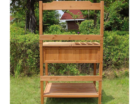 Potting Bench with Recessed Storage - rear view