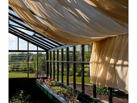 Image of Janssens Retro Royal Victorian VI34 Greenhouse 10ft x 15ft - interior view with shade cloth