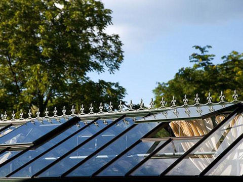 Image of Janssens Retro Royal Victorian VI34 Greenhouse 10ft x 15ft - roof vents