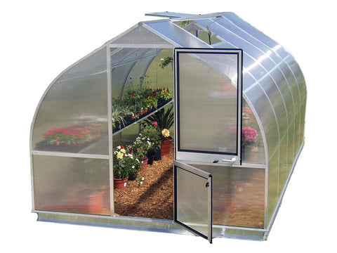 "Front view of the Hoklartherm Riga 5 Greenhouse 9'8""x17'6"""