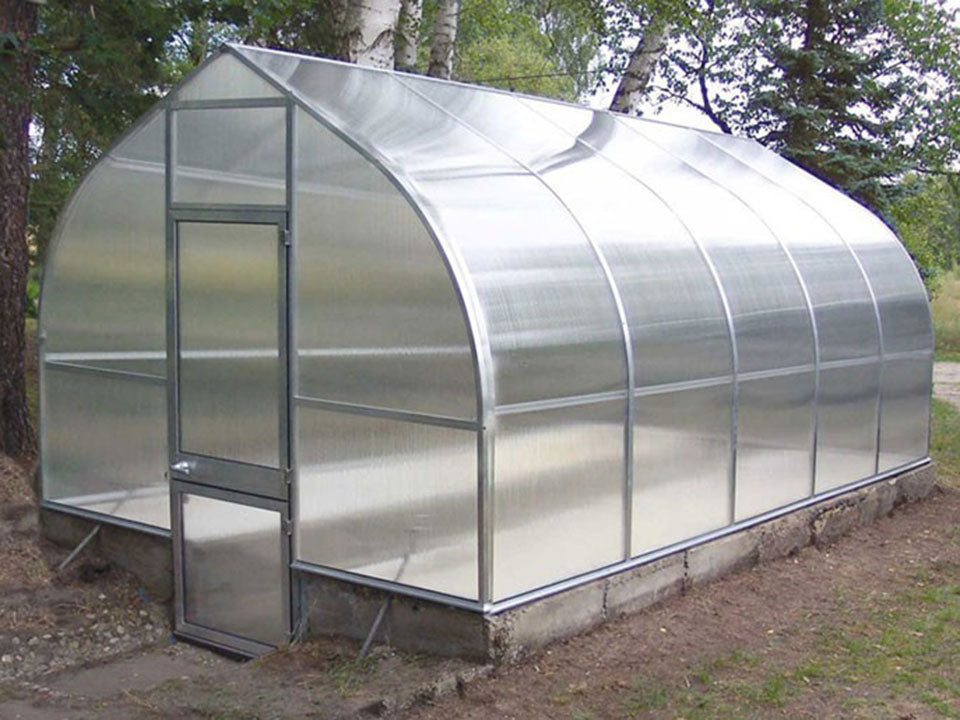 "Empty Hoklartherm Riga 5 Greenhouse 9'8""x17'6"""