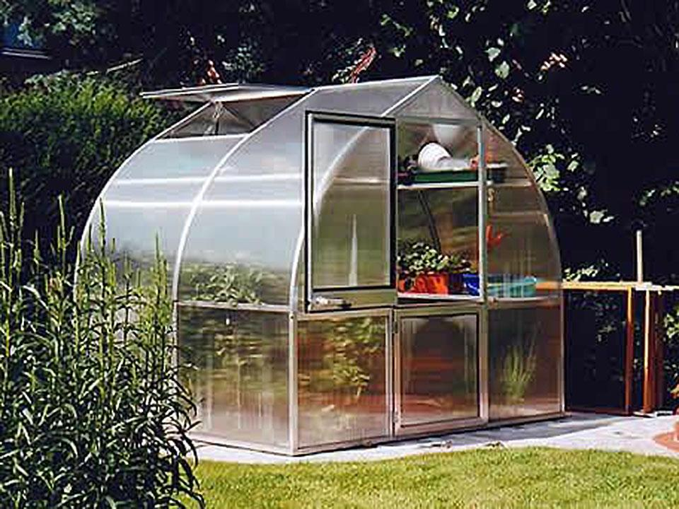 Hoklartherm Riga 2s Greenhouse 7.8x7 for serious gardeners with a lack of space
