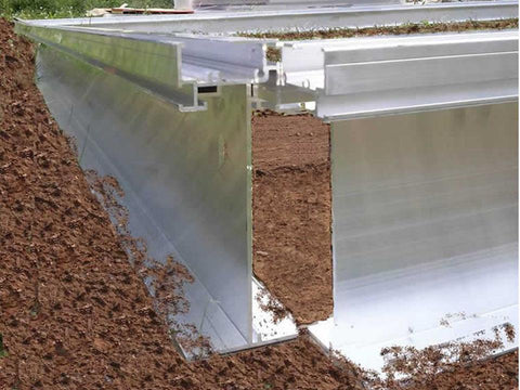 Image of Foundation frame profile of the Hoklartherm Riga 2s Greenhouse 7.8x7