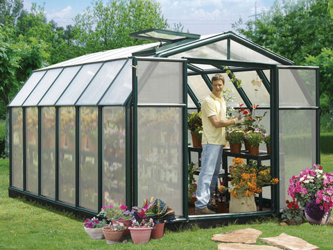 Image of Rion Hobby Gardener 2 Twin Wall 8ft x 12ft Hobby Greenhouse HG7112