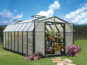 Rion Hobby Gardener 2 Twin Wall 8ft x 16ft Hobby Greenhouse HG7116