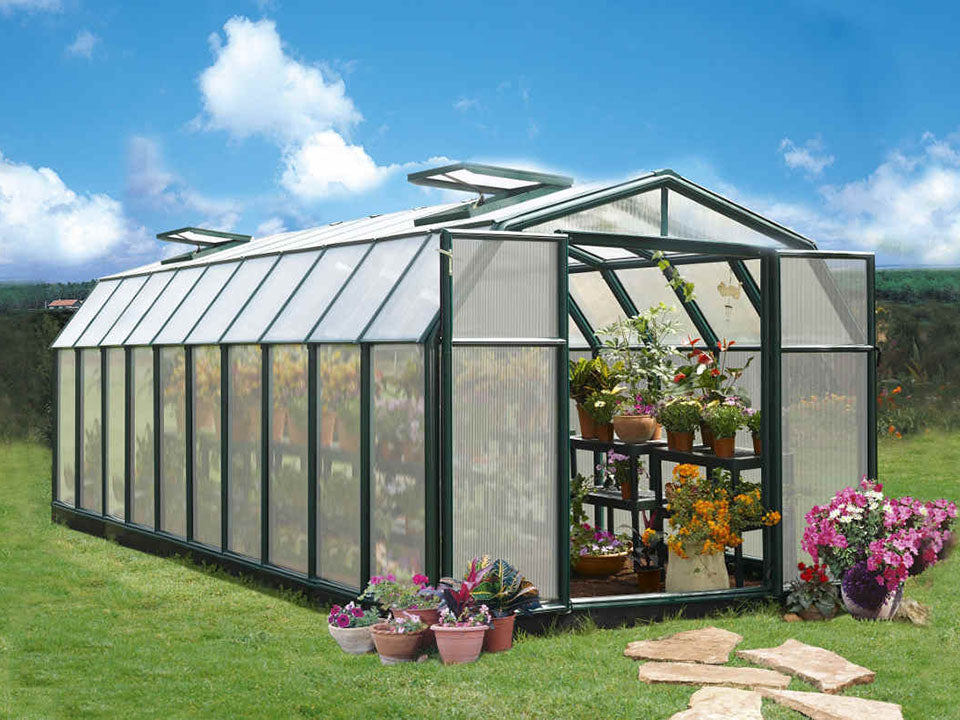 Rion Hobby Gardener 2 Twin Wall 8ft x 20ft Hobby Greenhouse HG7120