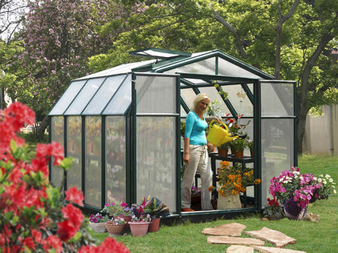 Image of Rion Hobby Gardener 2 Twin Wall 8ft x 8ft Hobby Greenhouse HG7108