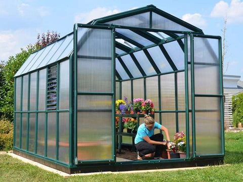 Image of Rion Prestige 2 Twin Wall 8ft x 16ft Greenhouse HG7316