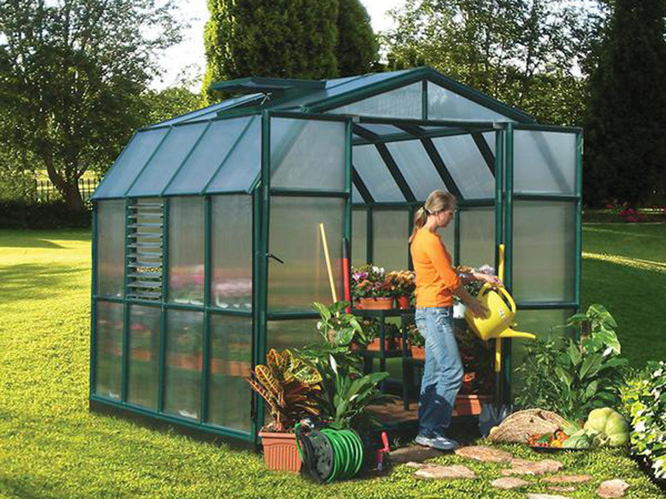 Rion Prestige 2 Twin Wall 8ft x 8ft Greenhouse HG7308