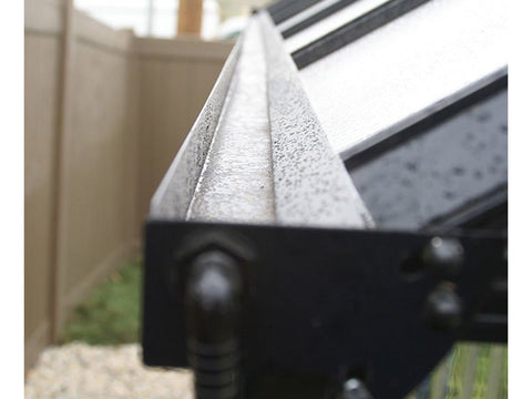 Riverstone Monticello Greenhouse 8x8 - integrated dual rainwater gutter system