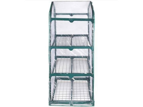 Image of Side view of Genesis Portable Rolling Greenhouse with clear cover