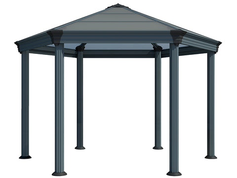 Image of Bare Roma Garden Gazebo - white background